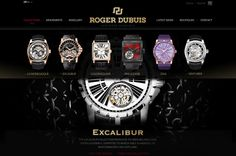 Roger Dubuis - Site Pitch Redesign by Abe Levin, via Behance