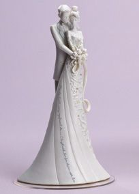 """This breathtakingly gorgeous cake topper quotes averse from Shakespeare, """"This Day I will marry my friend, the one I laugh with, live for, dream with, love.""""   Measures 9"""" high, 5"""" wide and 4"""" deep.  Weight is 1lb.  Resin/Stone Mix.  Hand-painted and hand-applied rhinestones.  Available in White."""