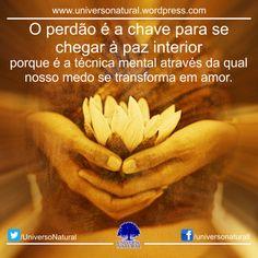 O perdão é a chave para se chegar à paz interior universo natural