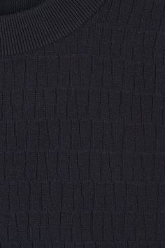 COS image 6 of Jacquard cotton jumper in Navy
