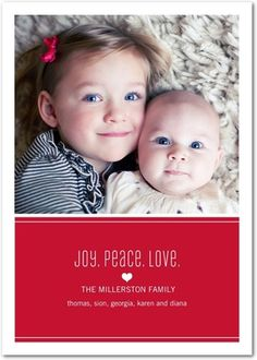 $1.39 Flat Holiday Photo Cards Sweet Statements - Front : Winterberry
