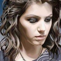 Beautiful Female Vexel Artworks