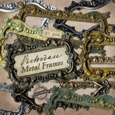 Ornate Metal Frames Digital Graphics, Print, Web, Scrapbook, Design, Personal and Commercial Use