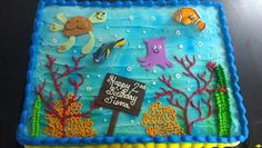 Finding Nemo half sheet cake