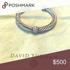 David Yurman 7 mm diamond bracelet Beautiful David Yurman 7mm diamond bracelet. In fabulous condition! David Yurman Jewelry Bracelets