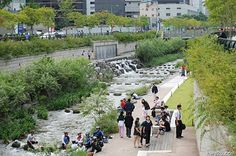 Cheonggyecheon Stream, Seoul, Korea, urban renewal project, urban renewal, urban design, urban park, restoration, rehabilitation, stream,