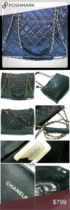 Auth chanel Metalasse Chain Shoulder bag Free Auth.Chanel Mini orginizer when you buy this gorgeous  Pre owned authentic chanel Metalasse Chain Shoulder bag lambskin black color leather!bag overall has signs of use.Has some wear and scratches and stain interior!pictures described the best! Measurement  w12.2inchxH9.84xD3.93xShoulder 29.13inch! It's not come with box or dust bag or authenticity card!Sale as is!Thank you CHANEL Bags Shoulder Bags