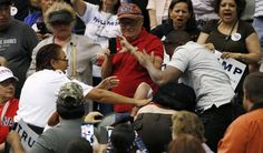 Anti-Trump Protester Punched, Kicked At Tucson Rally