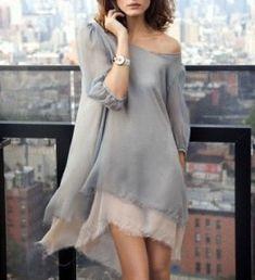 Vestido musselina cinza nude grey dress