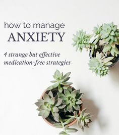 How to manage anxiety: 4 strange but effective medication-free strategies. I was skeptical of these at first, but now that I've seen them work I'm a believer.