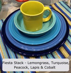 Fiesta dinnerware announces new color Lapis. A denim blue that should go well with other Fiestaware colors like Sunflower, Marigold, Cobalt and more. Looks like it ships in July - August of 2013. Pic is from facebook, but the web site is http://dinnerwareusa.com