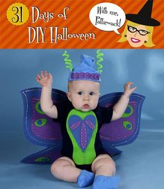 DIY Animal Costumes : DIY Halloween Butterfly Baby Costume