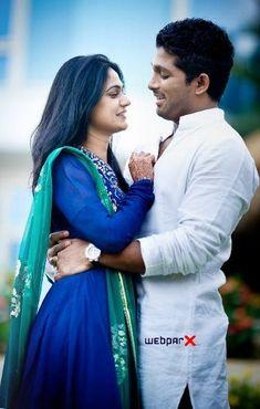 Allu Arjun with his wife
