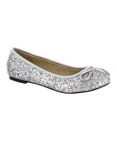 Love this Silver Sparkle Ballet Flat on #zulily! #zulilyfinds