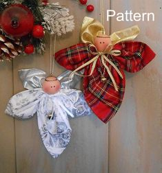 PDF E-Pattern Christmas Angel Ornament # 92 Primitive Raggedy Holiday Cloth Sewing Fast Easy Pattern Folk Art Victorian Quilted Christmas Ornaments, Christmas Sewing, Primitive Christmas, Christmas Angels, Christmas Holidays, Christmas Decorations, Christmas Items, Christmas Blessings, Snowman Decorations