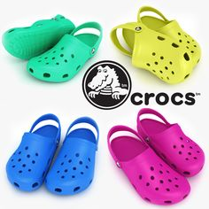 3D Crocs Shoes Sandals Clogs - 3D Model