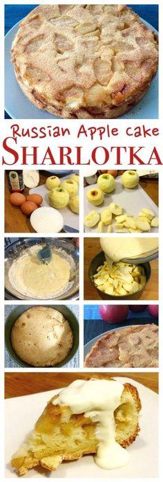 Easy Sharlotka Apple Cake + Video - Peter's Food Adventures