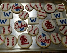 Cubs vs. Cards cookies