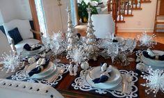 Déco de table de Noël blanche super romantique!
