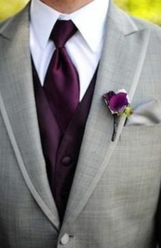 Purple and grey wedding!  Love the colors