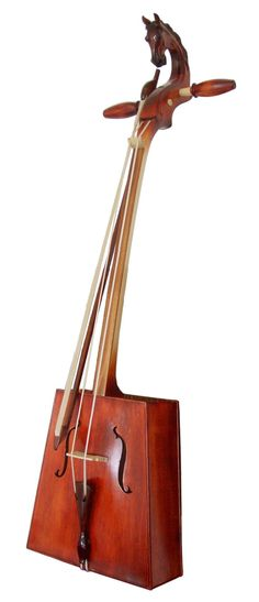 """Morin Khuur""""is a traditional Mongolian bowed stringed instrument. It is one of the most important musical instruments of the Mongol people, and is considered a symbol of the Mongolian nation"""
