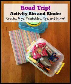 Road Trip Activity Bin and Binder crafts toys printables tips left brain craft brain