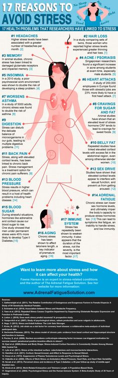 This infographic explains 17 reasons to avoids tress and how it can harm your body...