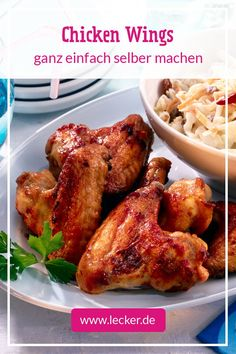 Grilled Chicken Wings, Grilled Chicken Recipes, Chicken Wing Recipes, Grilling Recipes, Wine Recipes, Chiken Wings, Bobby Flay Recipes, Food And Drink, Healthy Eating