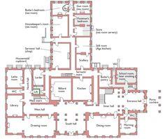Brodsworth Hall, Brodsworth, Doncaster, South Yorkshire, Ground floor plan