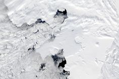 Between November 9–11, 2013, a large iceberg separated from the calving front of Antarctica's Pine Island Glacier. Scientists first detected a rift in the glacier in October 2011. By July 2013, infrared and radar images showed that the crack had cut completely across the ice shelf. New satellite images now show that Iceberg B-31 is finally moving away from the coast.