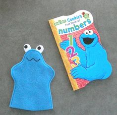 Cookie Monster Book with Monster Puppet