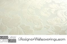 Boogie Nights Retro Flock Velvet Scroll Baroque Wallpaper  [WOF-67015]