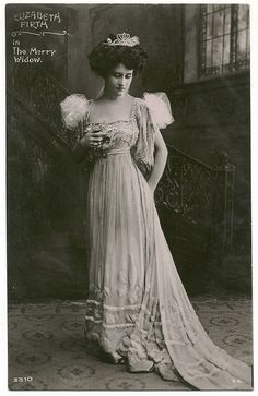 FIRTH, Elizabeth_Davidson (Real Photographic; 3310). In The Merry Widow