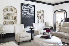 Bel-Air lounge chair   Thomas Pheasant collection   Baker Furniture via AtHomeArkansas
