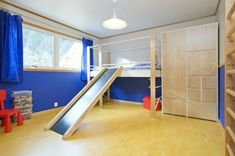 Dream home design ideas for an amazing house kids room slide Dream Home Design, House Design, Cool Kids Bedrooms, Dream House Exterior, House Beds, Home Improvement Projects, Diy Home Decor, Home Goods, Kids Room