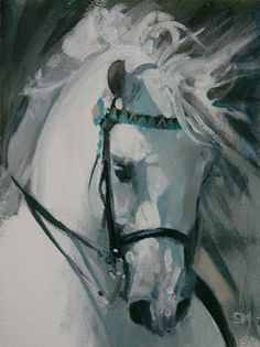 Best Browband by Sally Martin Oil ~ 8inch x 6inch