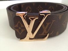 LV Gold Buckle Brown Tan