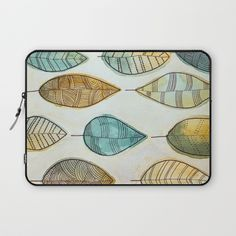 Rustic Leaves Laptop Sleeve by lorimoro Laptop Sleeves, Leaves, Rustic, Stuff To Buy, Products, Country Primitive, Retro, Farmhouse Style, Primitives