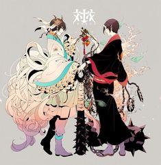 Anime Yaoi Fanart - Lưu Trữ - Hoozuki no Reitetsu: Hoozuki x Hakutaku Anime One, Hot Anime Guys, I Love Anime, Manga Anime, Anime Cosplay, Animes Emo, Character Inspiration, Character Design, Gekkan Shoujo Nozaki Kun
