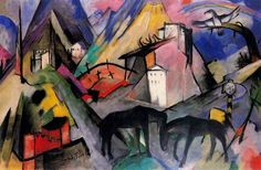 The Unfortunate Land of Tyrol , 1913 by Franz Marc