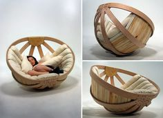 "I have a great fondness for papasan chairs - this seems another version.  Designed to ""create a safe, comfortable and relaxing environment in which the user can dissipate the overstimulation of their senses"".    The design was heavily influenced by research into Autism Spectrum Disorders and Sensory Processing issues."