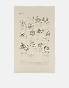 2014 Prisms Calendar - Letterpress and Gold Foil - Julia Kostreva Paper Design, Design Art, Print Design, Interior Design, Kalender Design, Illustration, Design Graphique, Design Reference, Graphic Design Inspiration