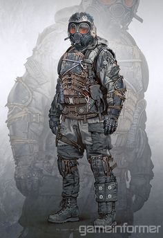 Take A Closer Look At Metro Exodus With This Exclusive Concept Art - Game Informer Post Apocalypse, Apocalypse Armor, Apocalypse Character, Nuclear Apocalypse, Apocalypse World, Metro 2033, Character Concept, Character Art, Range Murata