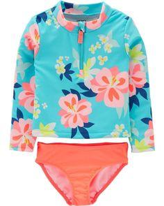 2b2787354a189 Baby Girl Carter's Floral 2-Piece Rashguard Set from Carters.com. Shop  clothing