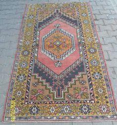 Beautiful Vintage Turkish Distressed Konya Medallion Midcentury Rug  30-40 years old. 7 x 4, Handspun Wool pile (Weft) on Handspun Wool foundation (warp).  Excellent shape, Clean And Ready To Use  rug ,carpet , turkish rug , vintage rug , oushak rug , oushak rugs , handmade rug , anatolian rug , distressed rug , boho rug , rug oushak , kilim rug , vintage turkish rug , traditional rug , runner rug , oushak runner rug , turkish rugs , distressed rug , carpet handmade, designer rug.