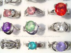 Assorted Colorful Rings. Click the link to purchase our unique handmade Peruvian jewelry at awesome wholesale prices (includes shipping & insurance!)  Make money with your own online or offline business selling Peruvian Jewelry or save big on beautiful gifts for yourself or that special someone! Click here:  http://www.wholesaleperuvianjewelry.com/