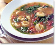 Apparently it's incredibly, incredibly tasty, although I'm not sure about the tortellini. Or the spinach.
