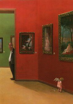 Little problems in the Baroque hall by Gerhard Glück Michael Sowa, Art And Illustration, Museum Art Gallery, Art Pictures, Photos, Humor Grafico, Arte Popular, Naive Art, Caricatures