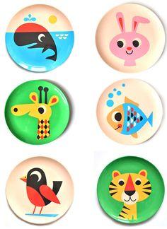 Fun animal plates for kids