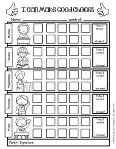 Editable Student Daily Behavior Charts & Data Recording